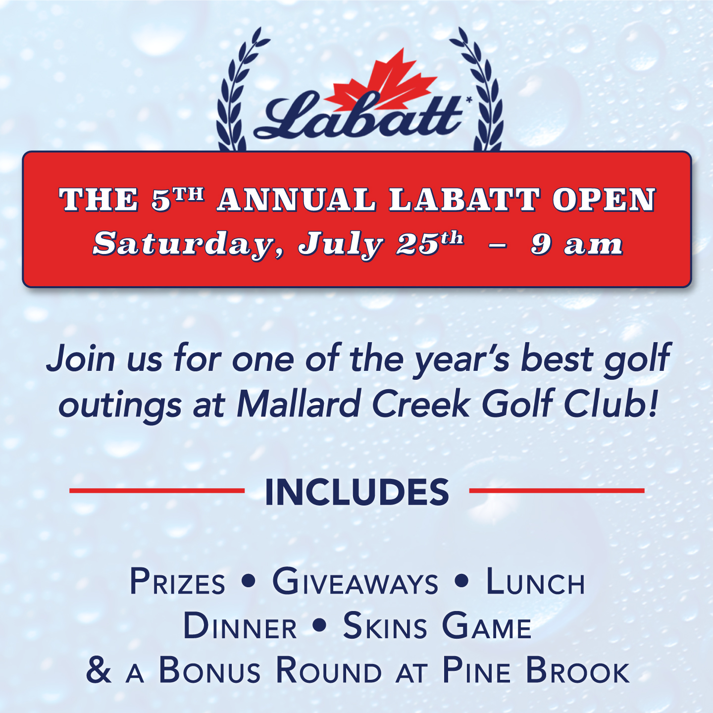 5th Annual Labatt Open