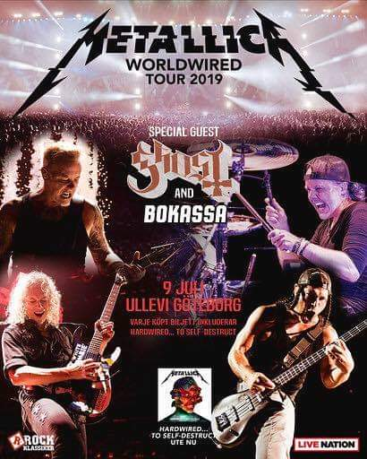 Mer biljetter släppta till Metallica på Ullevi.