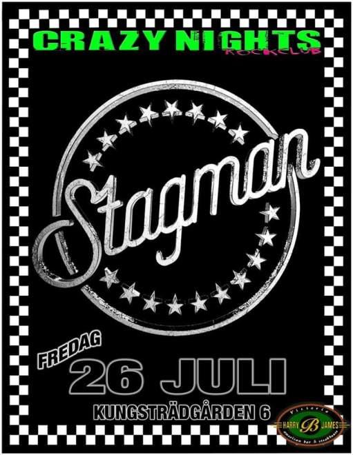 Fredag 190726 Harry B James! Stagman live i hemstaden Stockholm!