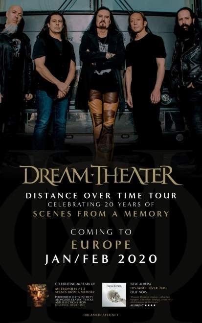 Dream Theater tar sin Distance Over Time Tour till Europa 2020.