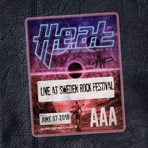 H.E.A.T har släppt sitt livealbum/Blu – Ray från Sweden Rock Festival. Firar med ny singel.