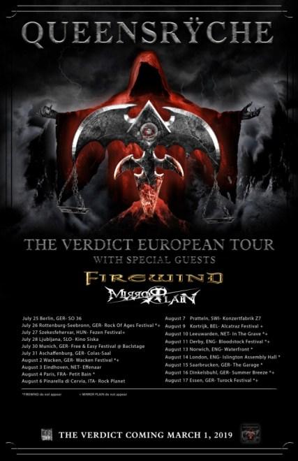 Queensrÿche startar sin Europa turné och firar med ny singel.