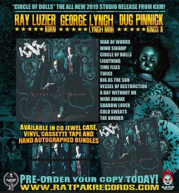 "Ny Video: ""KXM – ""Lightning"" (Official Music Video) #DugPinnick #GeorgeLynch #RayLuzier #KXM""."