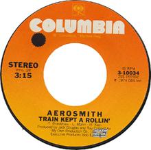 """Aerosmith – """"Train Kept A Rollin"""" 45 år."""