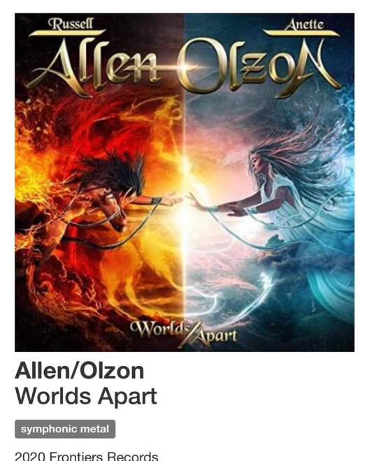 "Ny Video: Allen/Olzon – ""World Apart""."