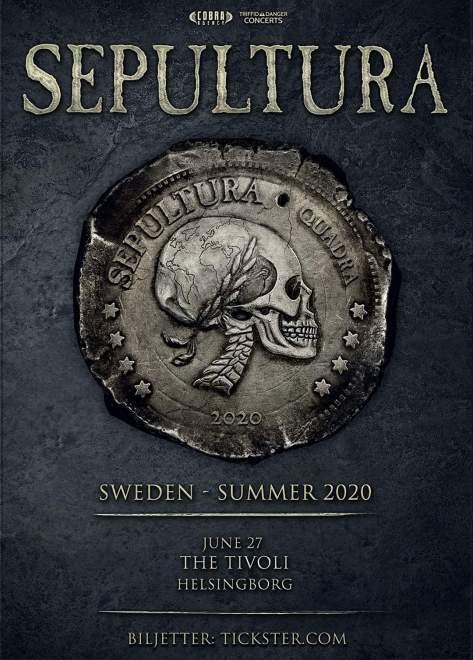 Sepultura spelar i Helsingborg i sommar!