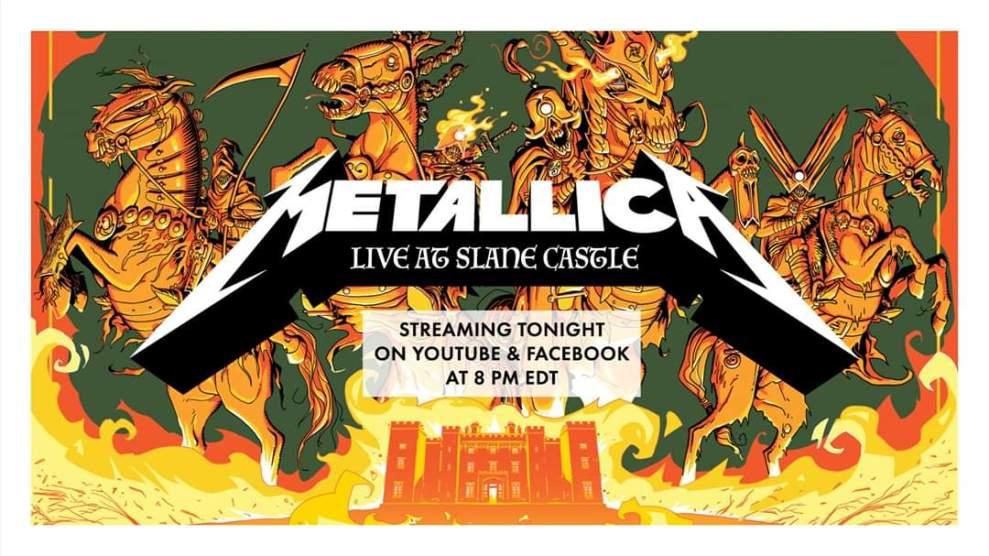 Metallica inför Metallica Mondays. Se ny konsert varken måndag direkt från Facebook eller YouTube.