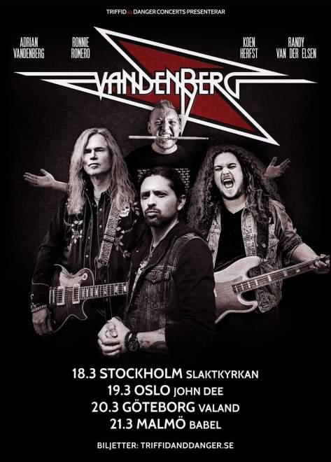 Vandenberg kommer till Skandinavien!