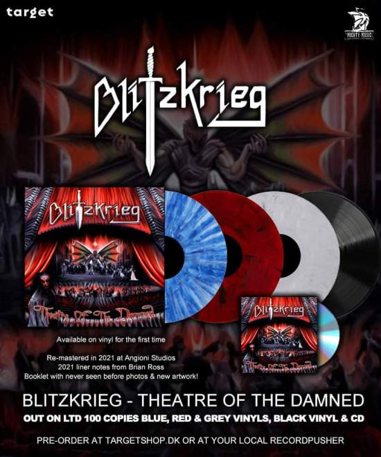 "BLITZKRIEG: ""Theatre Of The Damned"" reissued on vinyl & CD!"