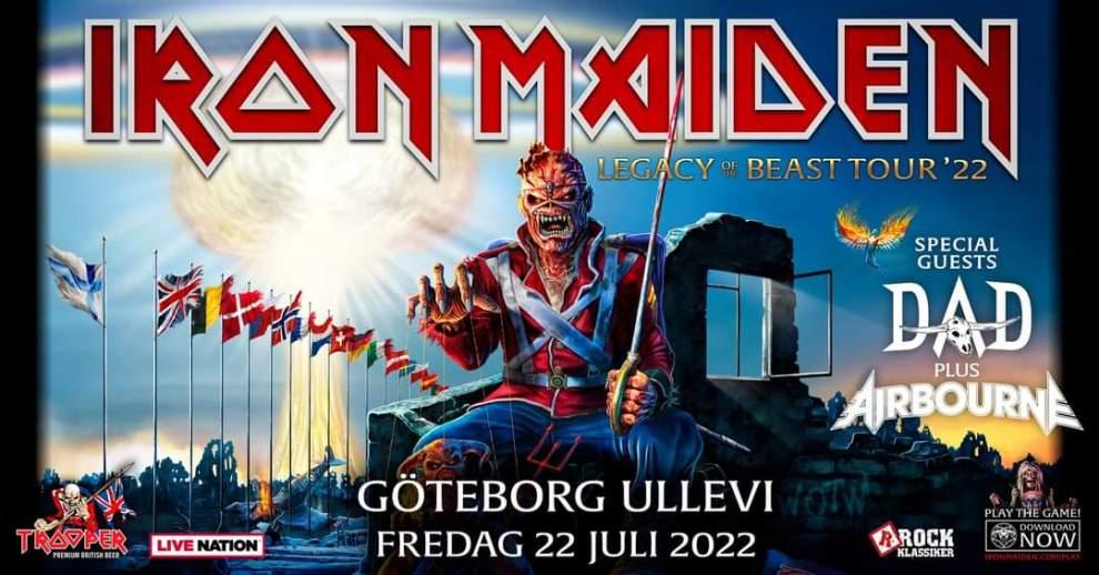 Iron Maiden flyttar Europa turnén till 2022.