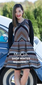 modcloth winter wonders sale dress