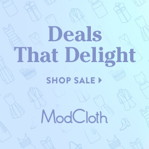 modcloth sale gift guide affiliate xmas christmas 2015 deal delight sale