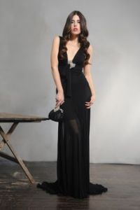 Pnina Tornai black formal gown