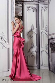 Pnina Tornai raspberry formal gown