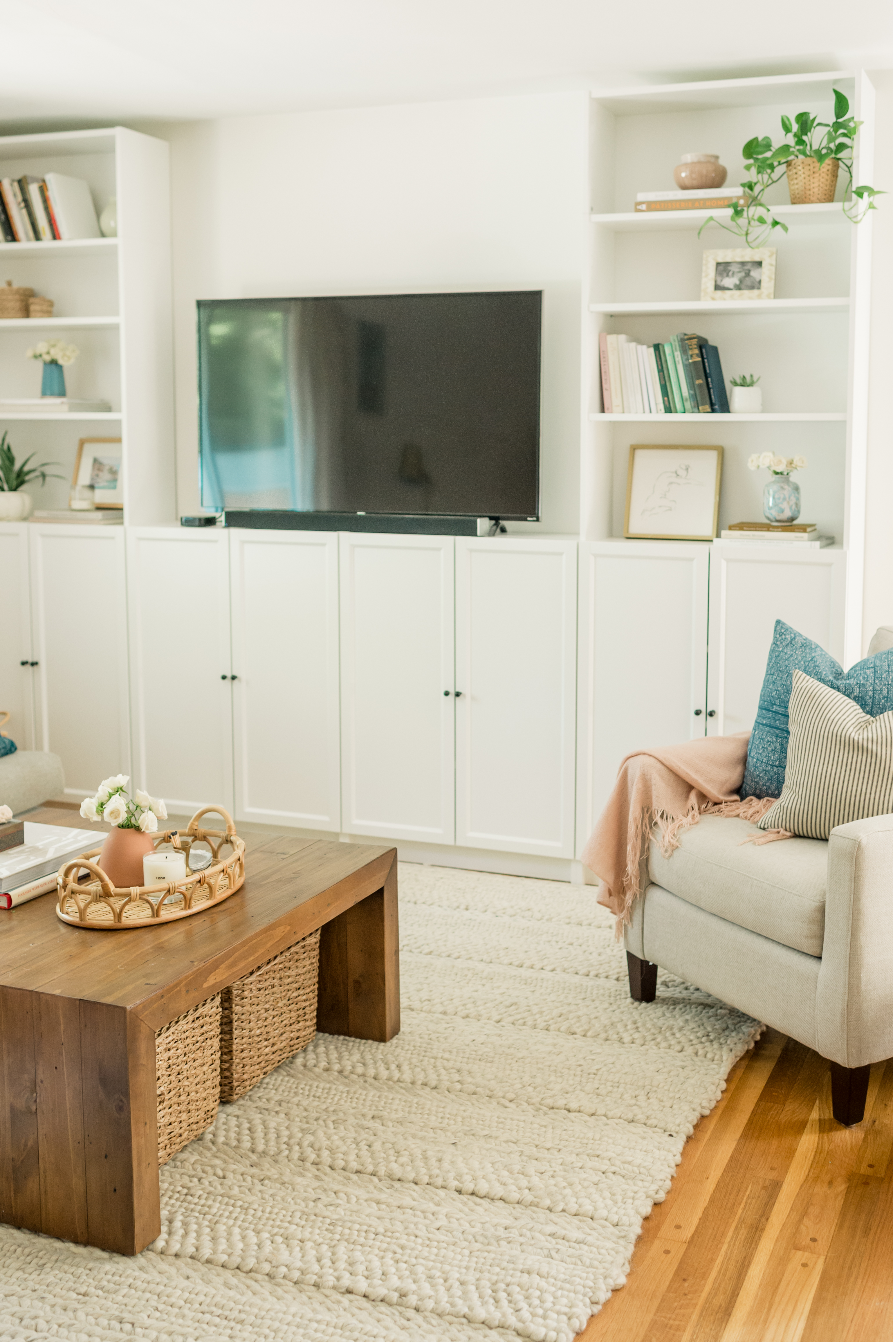 Our Diy Ikea Billy Bookcase Built Ins The Mama Notes
