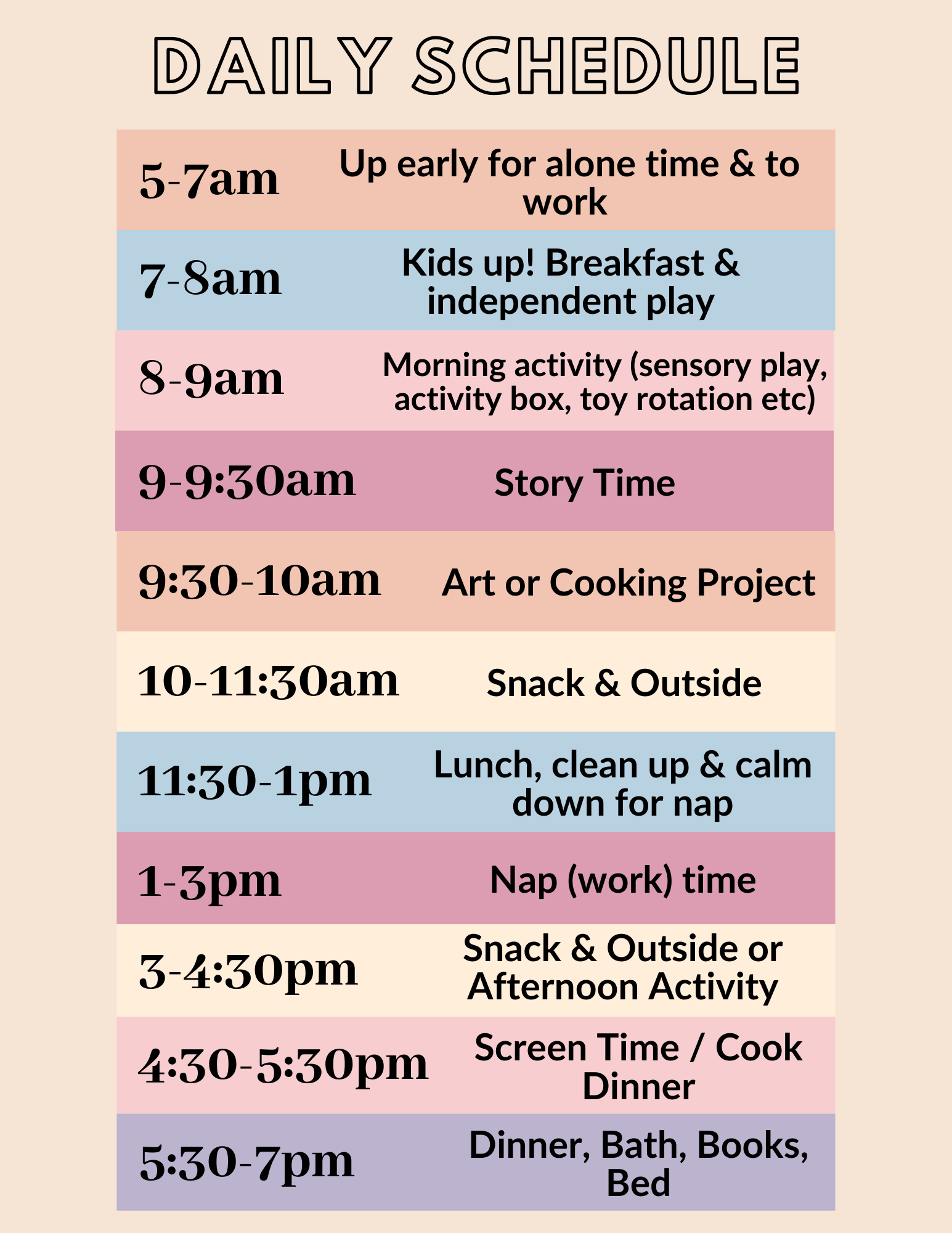 Daily Toddler Schedule To Try During Quarantine