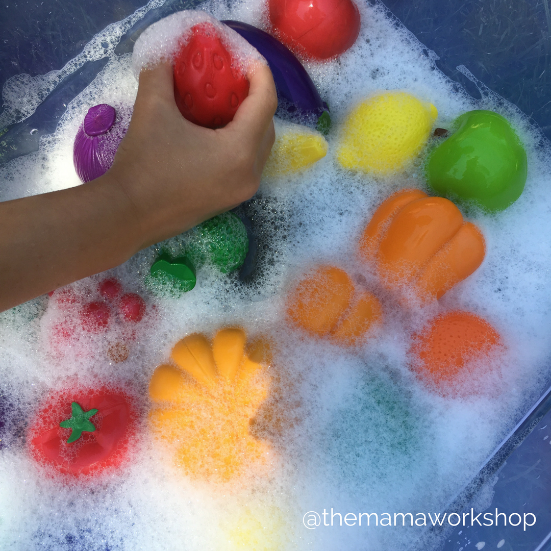 Fruit and Veggie Sensory Activity