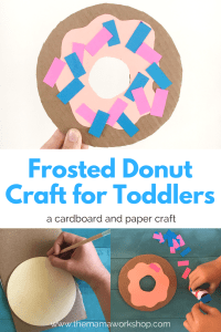 Frosted Donut Craft for Toddlers