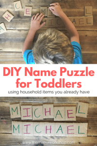 DIY Name Puzzle for Toddlers