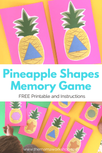 Pineapple Shapes Memory Game