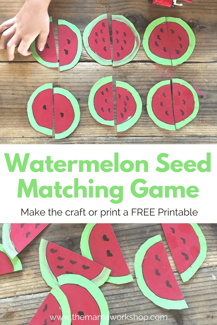 watermelon seed matching game the mama workshop
