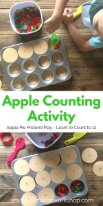 Apple Counting Activity – Apple Pie Pretend Play