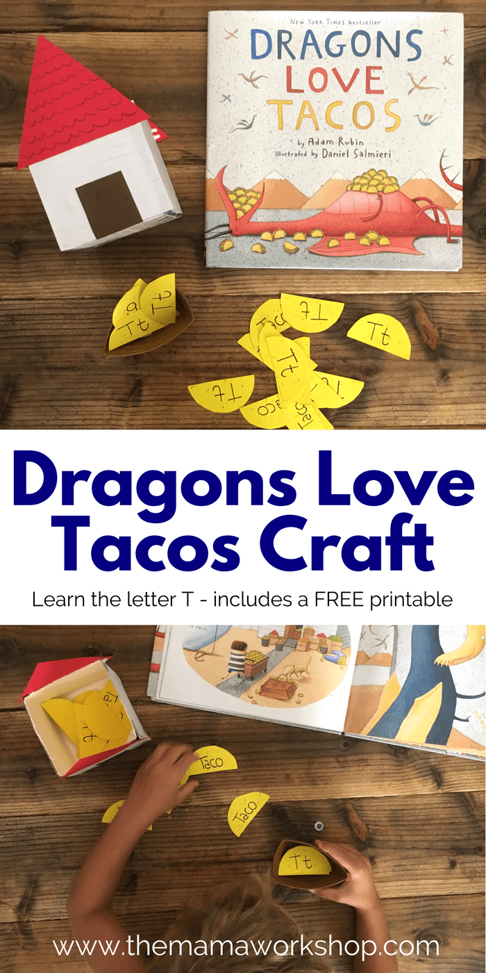 Make this Dragons Love Tacos Craft for some interactive fun while reading the book. Learn the letter T with the matching game!