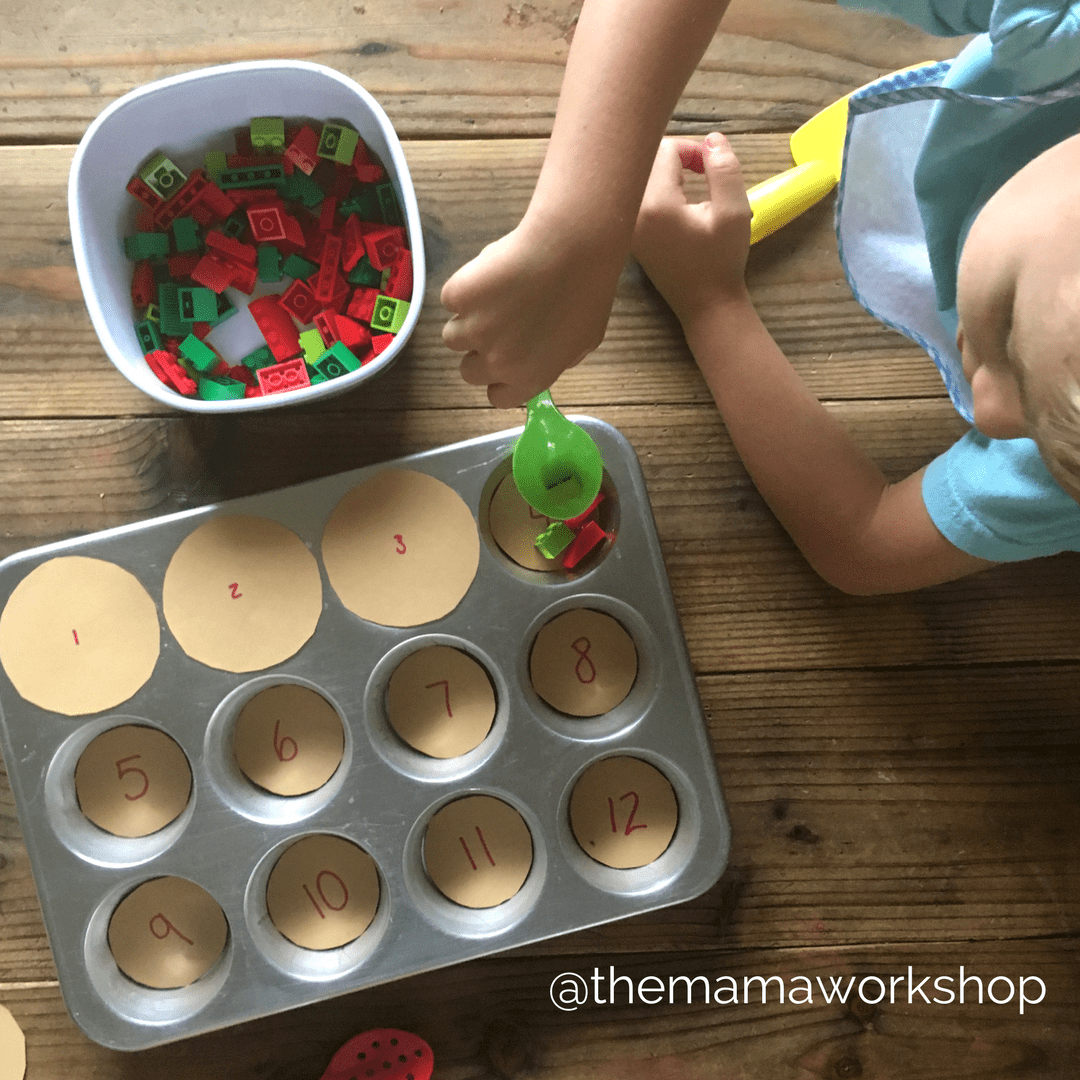 Scooping Apples - Apple Counting Activity