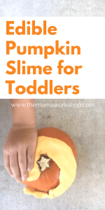 Edible Pumpkin Slime for Toddlers