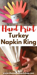 Hand Print Turkey Napkin Ring