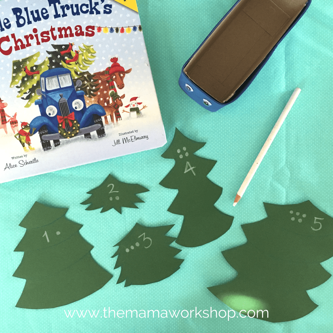 Little Blue Truck Christmas - Counting Christmas Trees