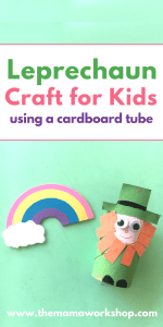 Cardboard Tube Leprechaun Craft for Kids