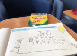 kids drawing of Stena Line ferry