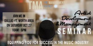 Artist Management Seminar @ Hampton Inn & Suites Dallas-Arlington North-Entertainment District | Arlington | Texas | United States