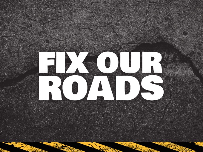 Image result for fix the roads