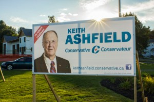 Conservative MP Keith Ashfield not taking a stance on anything this election, year