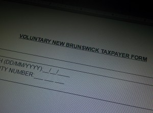 New Brunswick asking for volunteer taxpayers from away