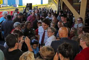 NB woman: Trudeau also elbowed my chest