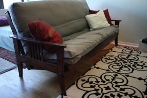 mattress futons sale cache frame futon metal full nc for asheville black size