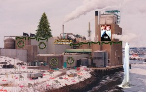 J.D. Irving offers to decorate pulp mill to appease Saint John businessman