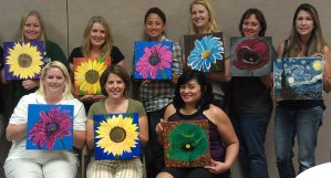 Woman totally mangles her painting at wine night