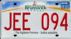 NBers seek new licence plate slogan: 'The Vigilante Province… Justice Populaire'