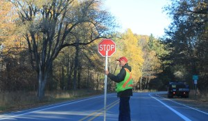 Flagger clearly on a power trip