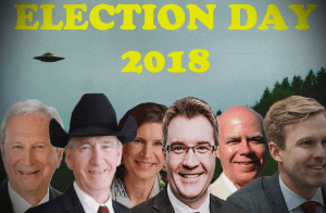 Austin hoping election day as awesome as time he met English-speaking aliens