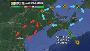 Weekend forecast for Maritimes: socially isolated showers