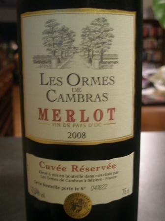 Les Ormes de Cambras - Merlot from France (3/5)