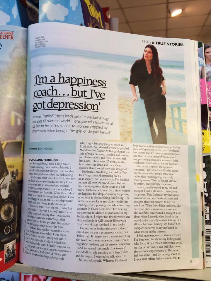 Grazia Magazine in The Uk. July 2014.
