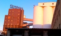 behind the Pillsbury mills