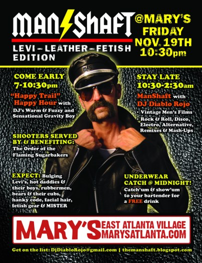 11.19.10 - The Manshaft: Levi-Leather Edition @ Mary's