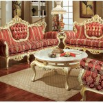 609 Aj Floral Fabric Polrey French Provincial Living Room Style